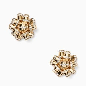 Kate Spade Bourgeois Bow Pave Studs Earrings